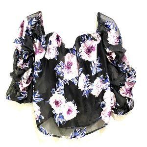 ☘️Charlotte Russe off the shoulder blouse Size L